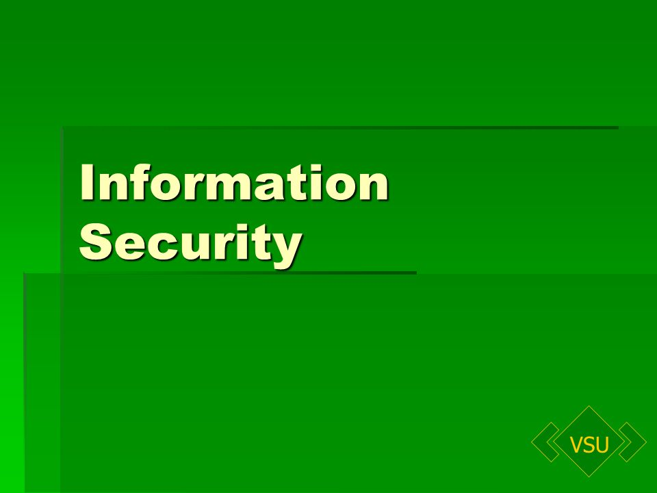 VSU Information Security