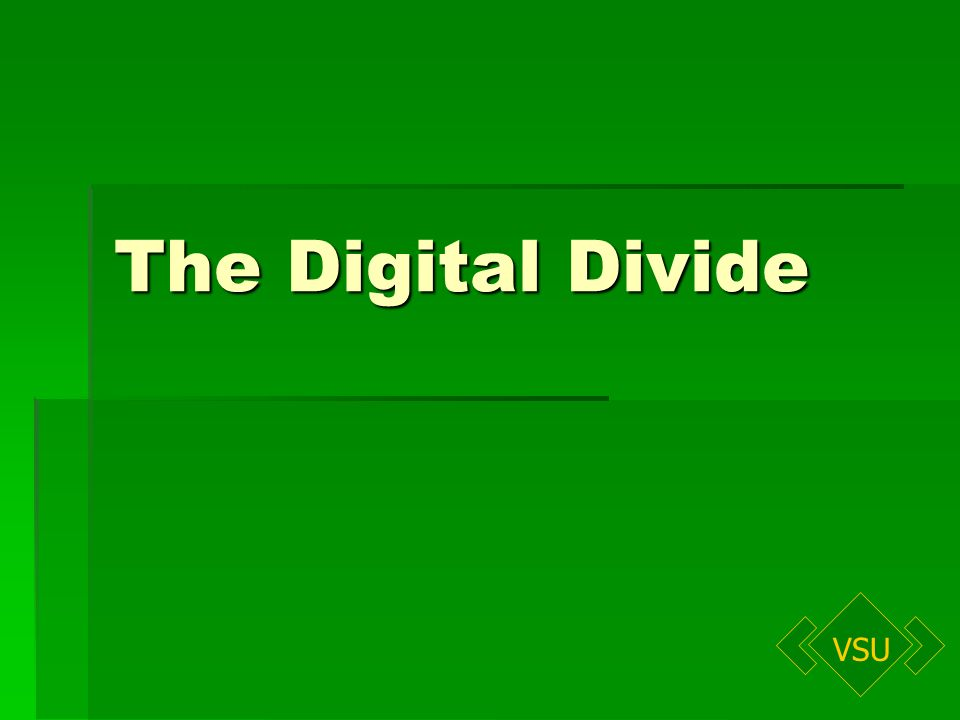 VSU The Digital Divide