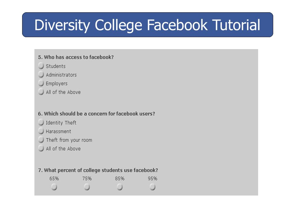 Would you like to confirm Facebook as your friend? Diversity College Facebook Tutorial