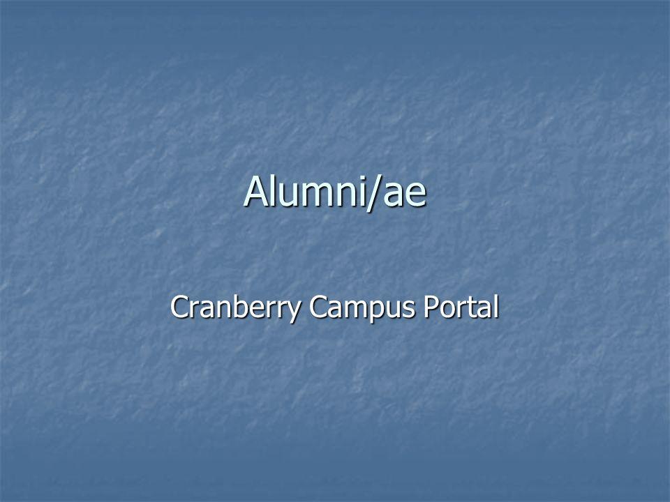 Alumni/ae Cranberry Campus Portal