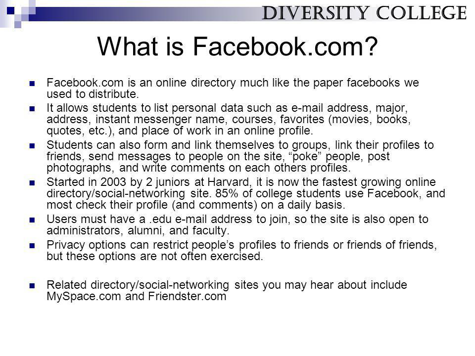 What are Facebooks risks.
