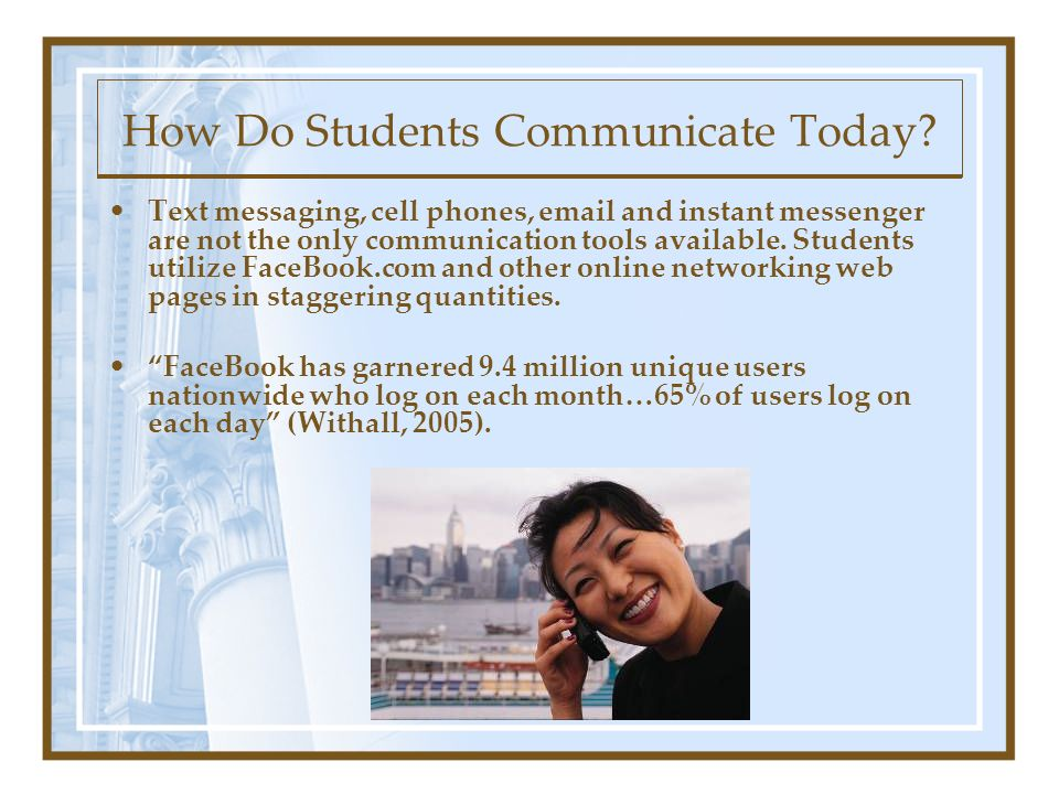How Do Students Communicate Today.