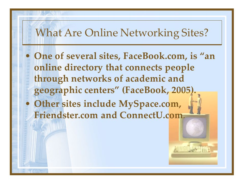 What Are Online Networking Sites.