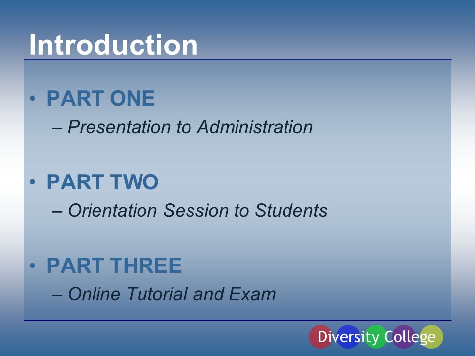 Facebook Programming The Facebook orientation session and online tutorial support: –Vector One: Developing Competence These two programs will develop a students competence in online appropriateness and responsibility.