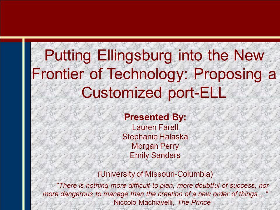 Purpose of Presentation Welcome to Ellingsburg University, home of the EU Eels.