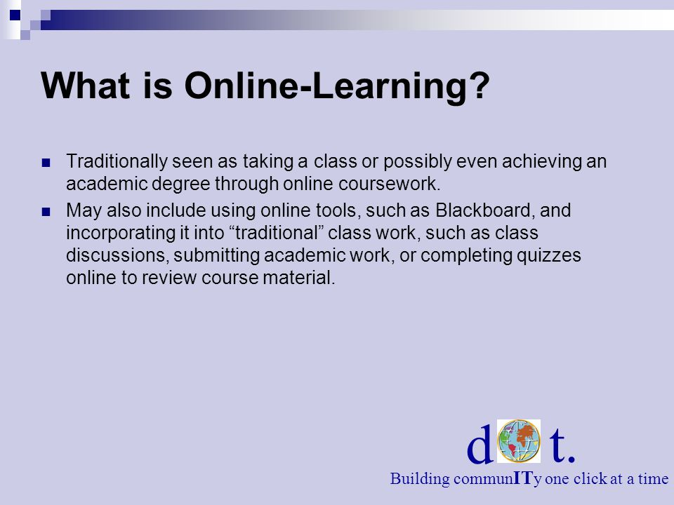 What is Online-Learning.