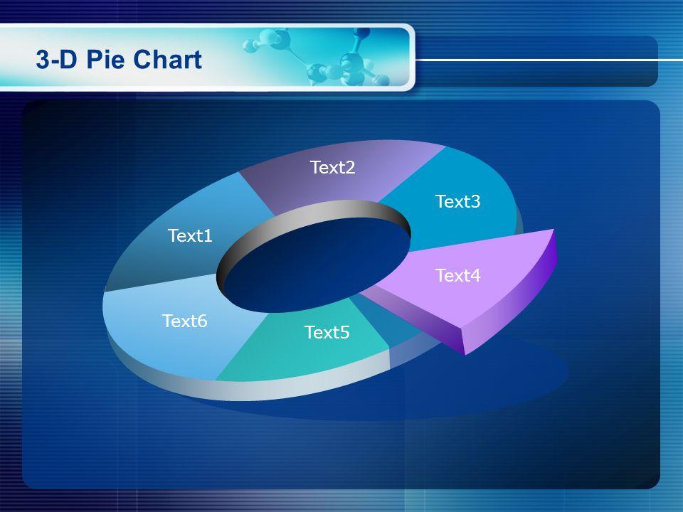 3-D Pie Chart Text1 Text2 Text3 Text4 Text5 Text6