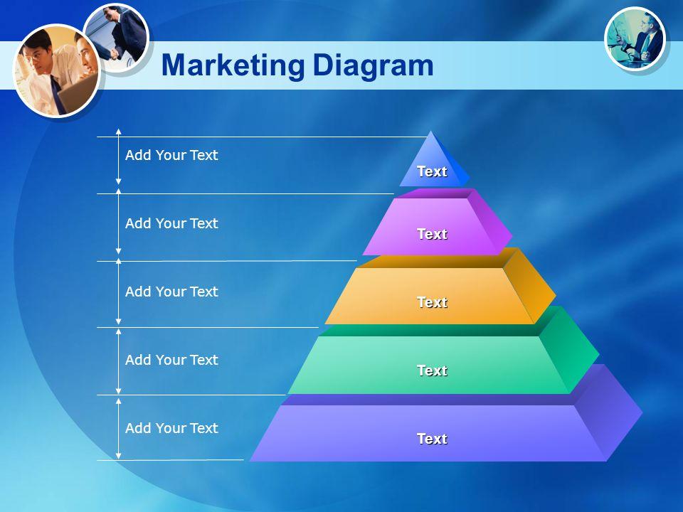 Marketing Diagram Add Your Text Text Text Text Text Text