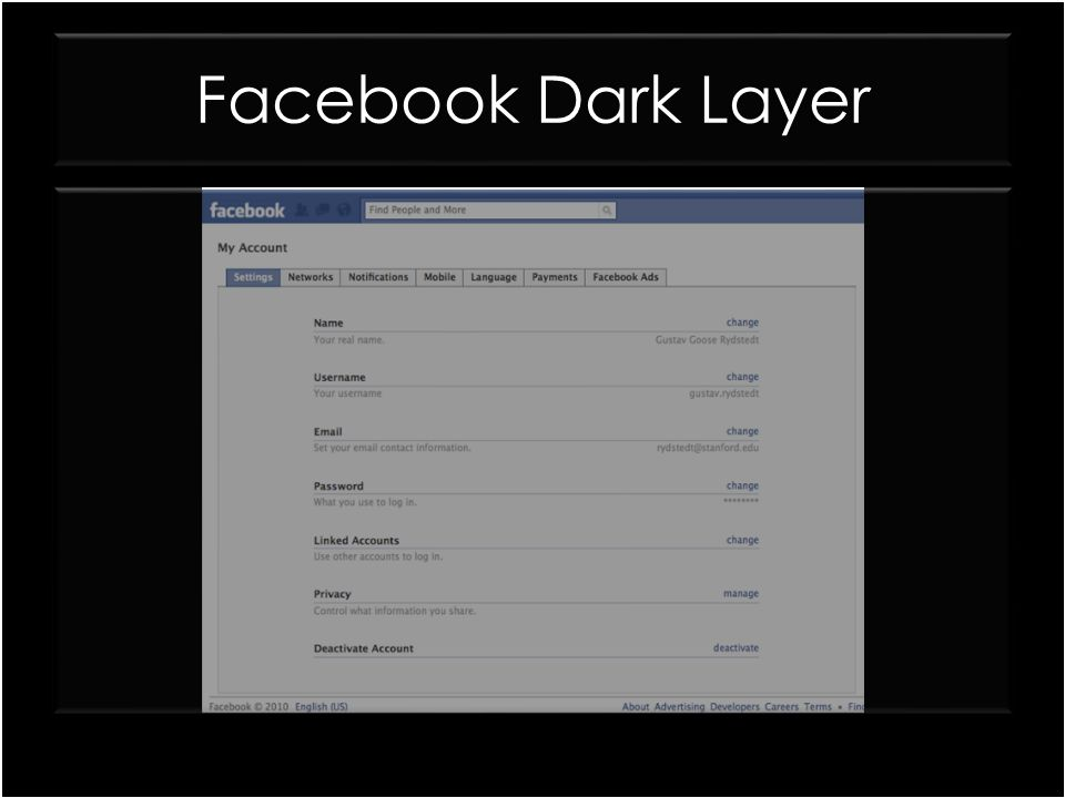 Facebook Dark Layer