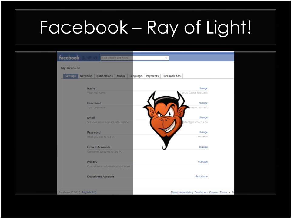 Facebook – Ray of Light!