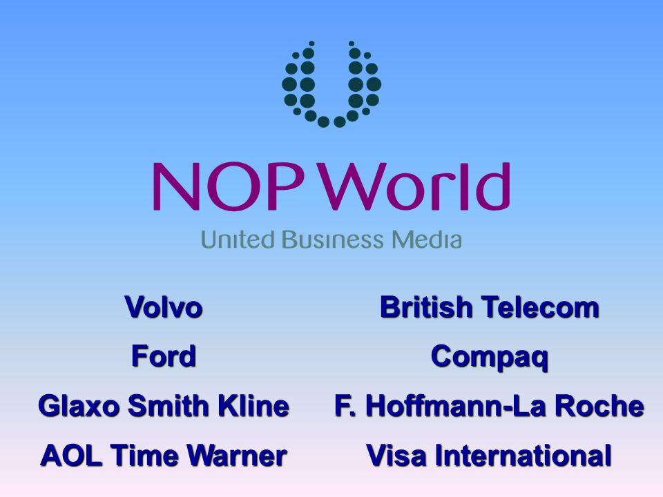 VolvoFord Glaxo Smith Kline AOL Time Warner British Telecom Compaq F. Hoffmann-La Roche Visa International