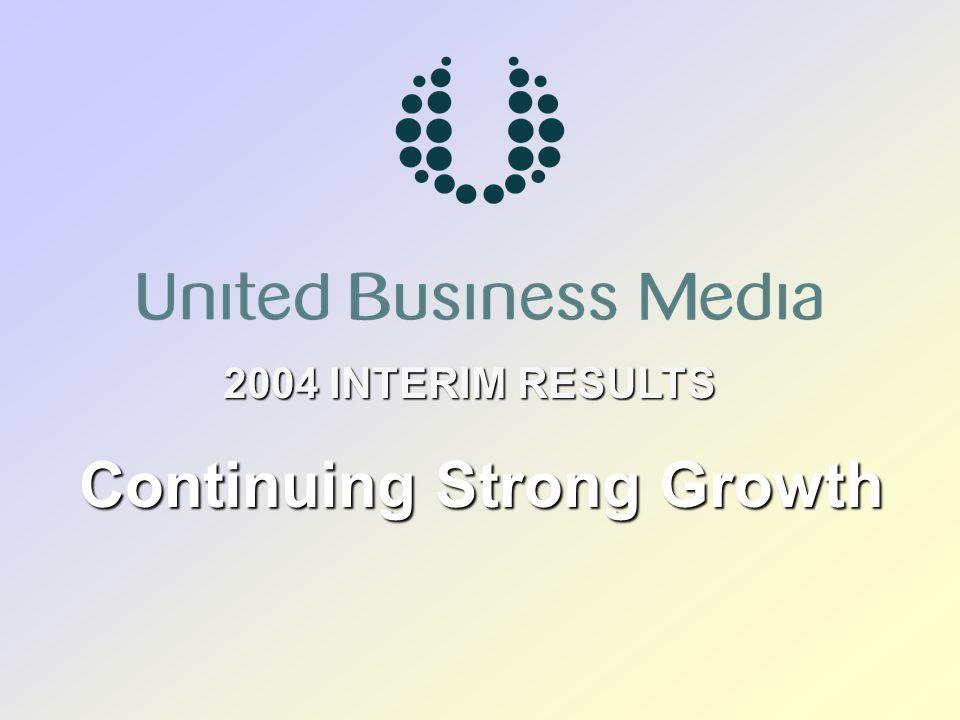 United Business Media 22 Operating Profit (£m) Operating Margin (%) Professional Media: CMP Media Professional Media: CMP Media Turnover (£m) 2004H1 2003 H1 Reported Change % 101.8 4.9 4.8 98.3 11.9 12.1 (3.4) 142.9 151.5 Underlying Change % 2.1 316.1