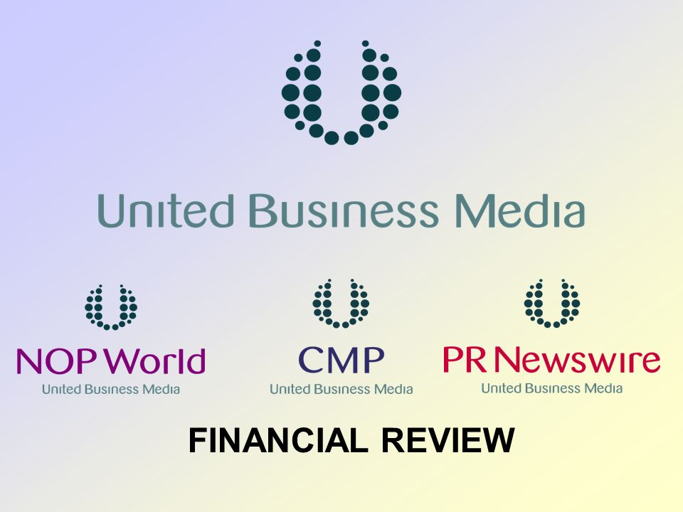 United Business Media 10 Turnover (£m) Operating profit * (£m) Net Interest (£m) Other finance expense (FRS17) PBT * (£m) Taxation * (£m) EPS * (p) Dividend per share (p) Financial Results Financial Results Six months to 30 June20042003 Change % *before amortisation of goodwill and intangible assets 344.0 42.0 6.2 (2.7) 45.5 (10.0) 10.6 3.30 380.5 63.8 3.2 (2.0) 65.0 (14.2) 14.9 3.63 10.6 51.9 42.9 42.0 40.6 10.0