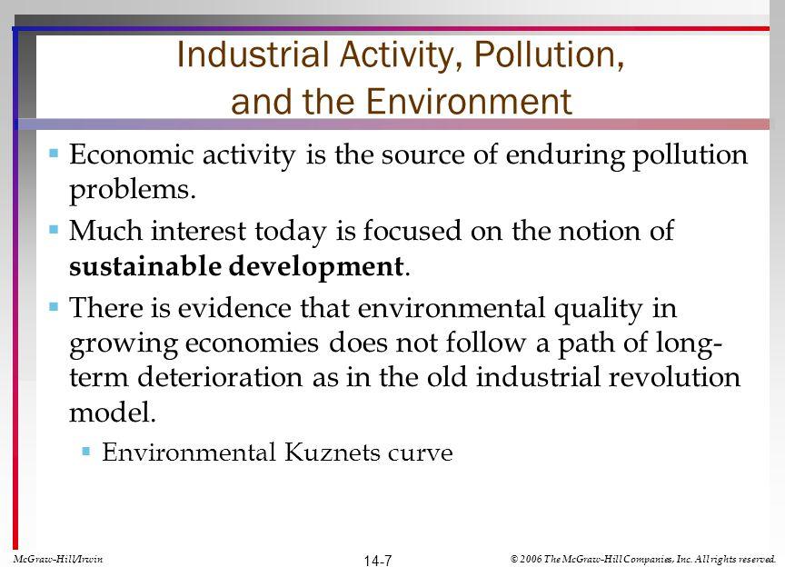 Ideas Shape Attitudes Toward the Environment Dualism Progress Capitalism Utilitarianism McGraw-Hill/Irwin© 2006 The McGraw-Hill Companies, Inc.
