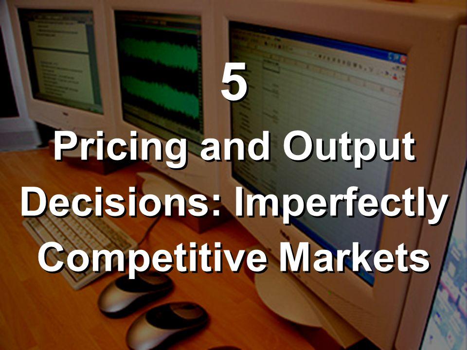 Choosing the output and profit mark-up O AC £ Q D P1P1 Q1Q1 f g P2P2 Q2Q2 j h