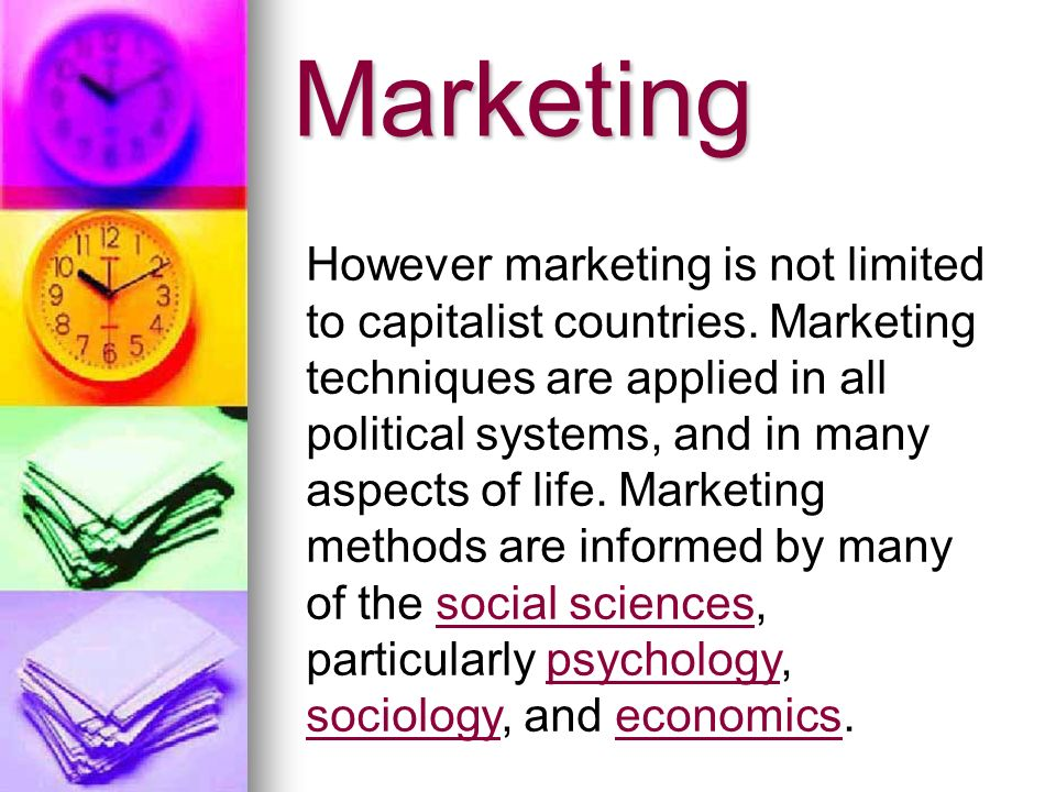 Marketing orientation The concept of marketing orientation was developed in the late 1960 s and early 1970 s at Harvard University and at a hand- full of foward thinking companies.