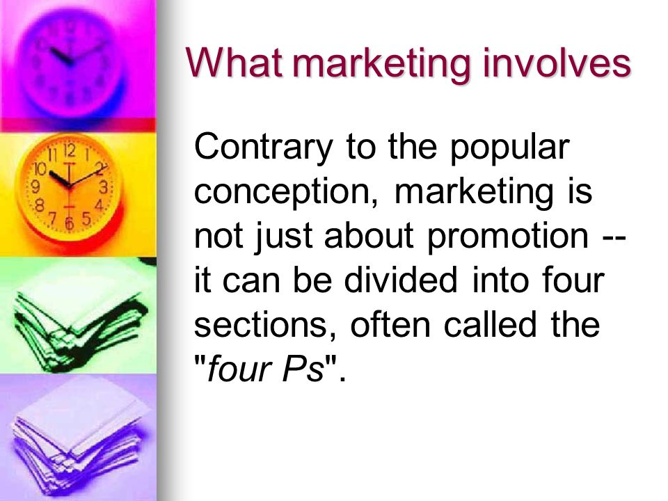 Four Ps Product - The Product management aspect of marketing deals with the specifications of the actual good or service, and how it relates to the end-user s needs and wants.