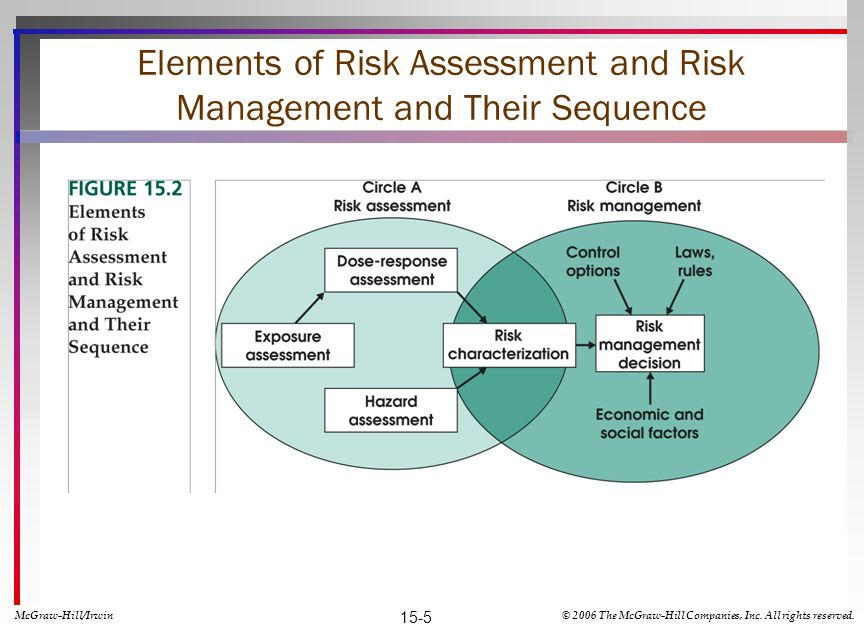 Elements of Risk Assessment and Risk Management and Their Sequence McGraw-Hill/Irwin© 2006 The McGraw-Hill Companies, Inc.