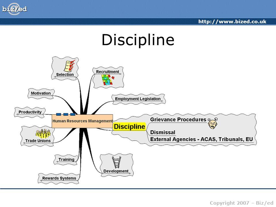 http://www.bized.co.uk Copyright 2007 – Biz/ed Discipline