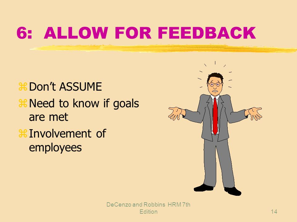 DeCenzo and Robbins HRM 7th Edition13 6: DETERMINING WHAT TO COMMUNICATE z Filter out irrelevant yWhat if ??? xNeed to know xEthical issues ySo what ?
