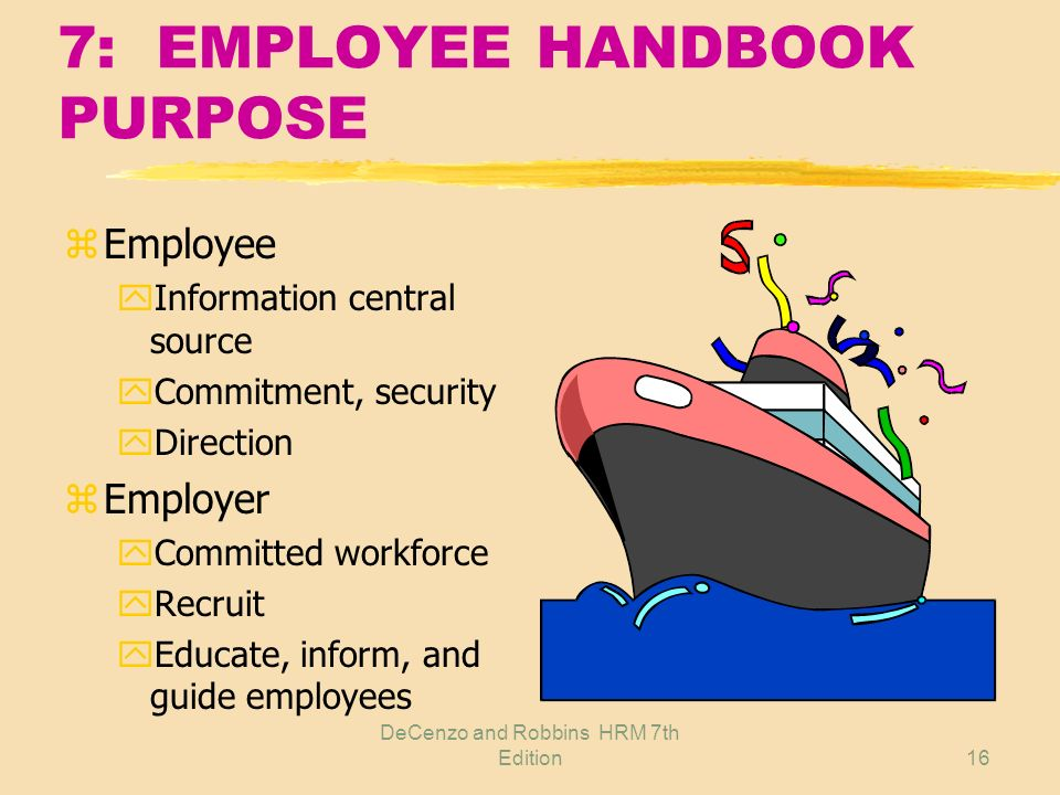 DeCenzo and Robbins HRM 7th Edition15 6: MULTIPLE INFORMATION SOURCES z Employees z Immediate supervisors z HR experts