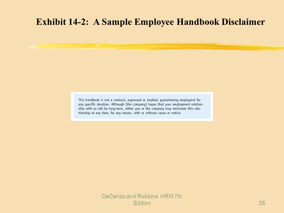 DeCenzo and Robbins HRM 7th Edition34 Exhibit 14-1: Components of Effective HRM Communication