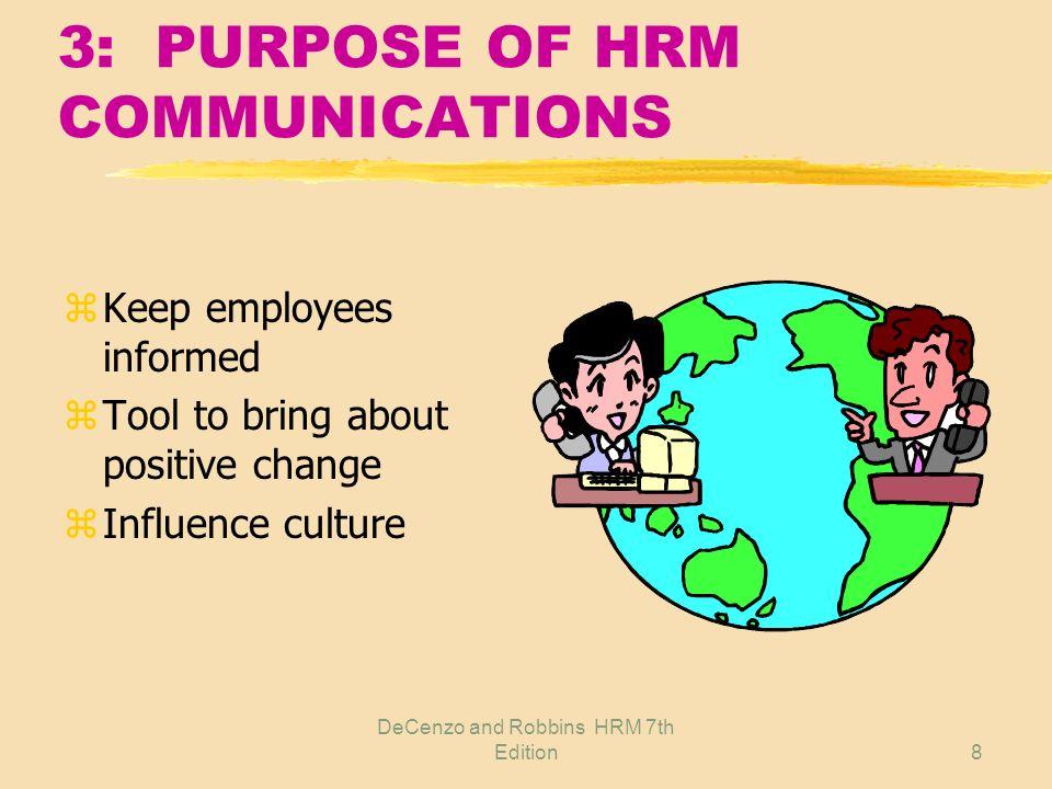 DeCenzo and Robbins HRM 7th Edition7 2: LEGALLY REQUIRED COMMUNICATIONS z OSHA: Hazard Communications Standard z ERISA: Summary Plan Description z WAR