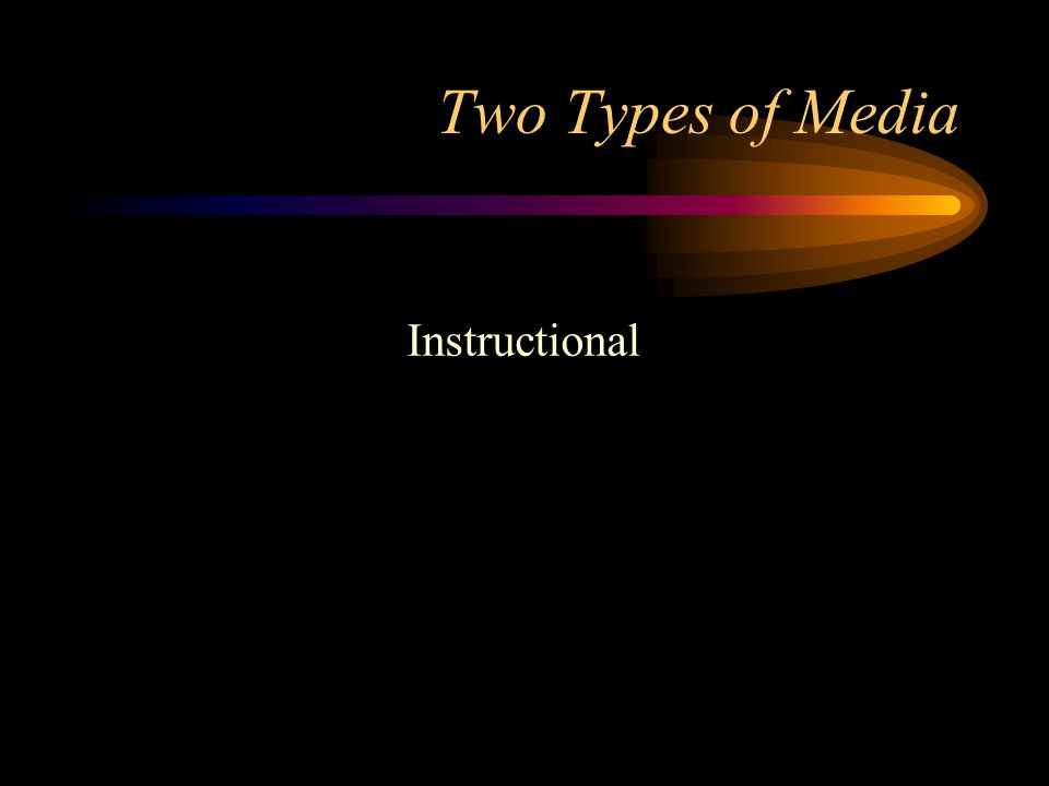 Two Types of Media Instructional