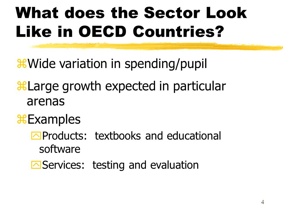 4 What does the Sector Look Like in OECD Countries.