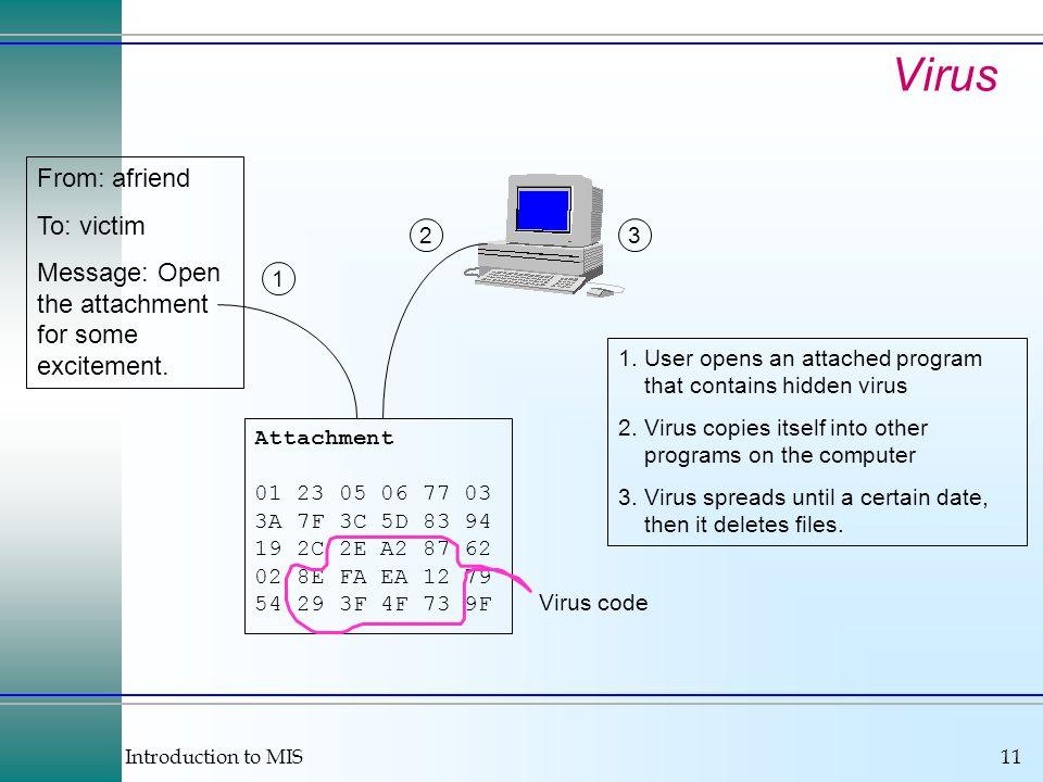 Introduction to MIS11 Attachment 01 23 05 06 77 03 3A 7F 3C 5D 83 94 19 2C 2E A2 87 62 02 8E FA EA 12 79 54 29 3F 4F 73 9F 1 23 1.User opens an attach