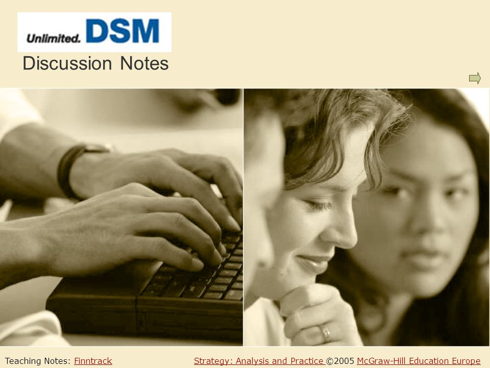 Case Questions For example, in 2000 one of DSMs most successful and profitable product was Stanyl, a product which had been 10 years in development, with negative EPs throughout all those years.