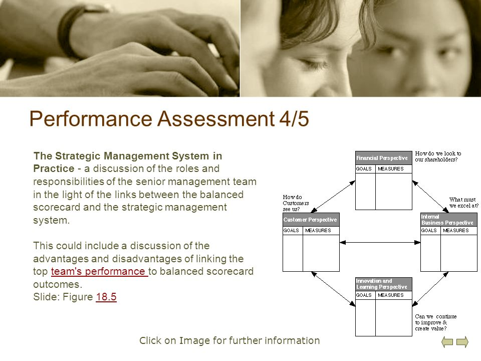 Performance Assessment 4/5 The Strategic Management System in Practice - a discussion of the roles and responsibilities of the senior management team