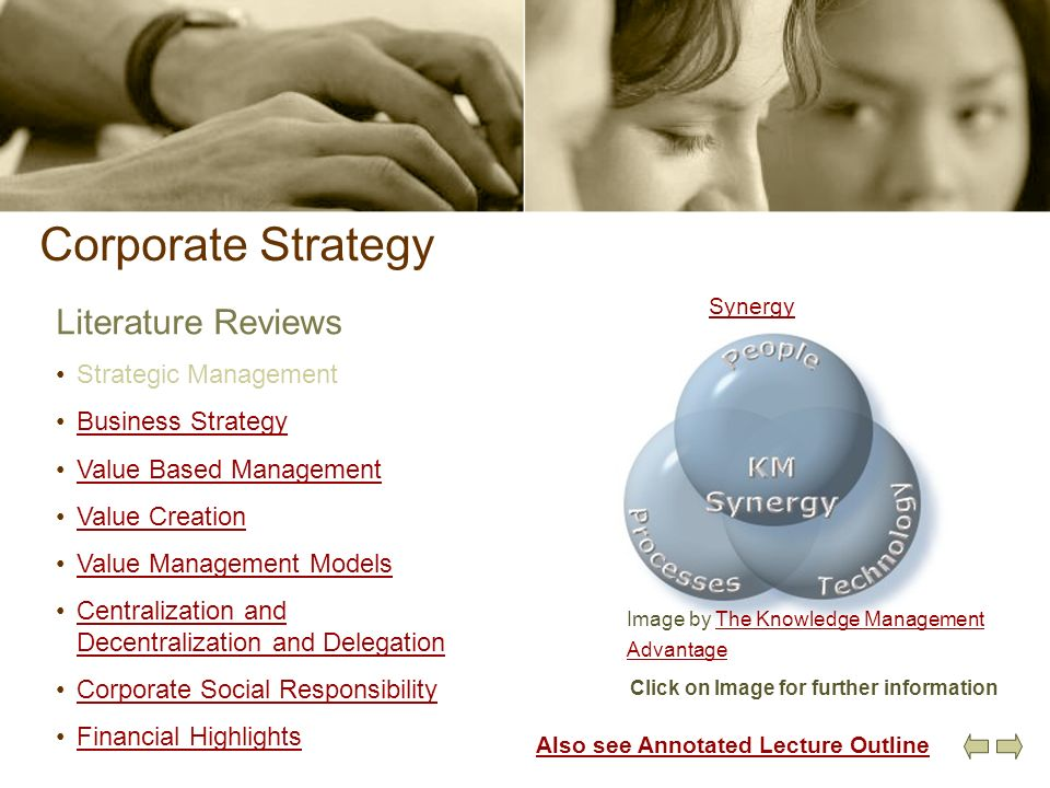 Corporate Strategy Literature Reviews Strategic Management Business Strategy Value Based Management Value Creation Value Management Models Centralizat