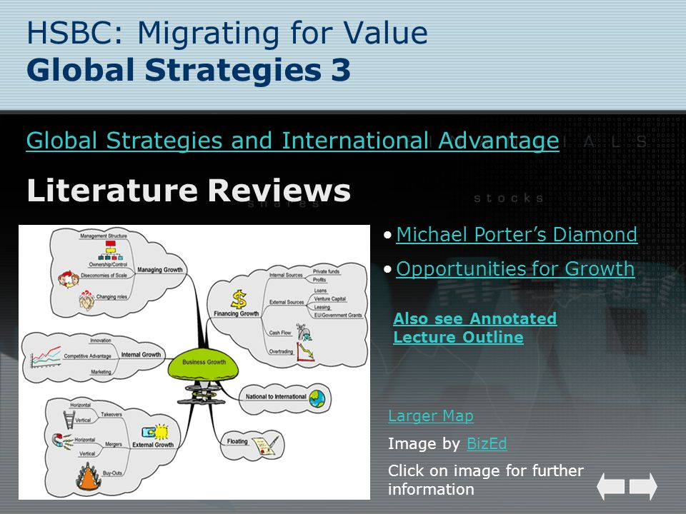 HSBC: Migrating for Value Global Strategies 3 Global Strategies and International Advantage Literature Reviews Larger Map Image by BizEdBizEd Click on