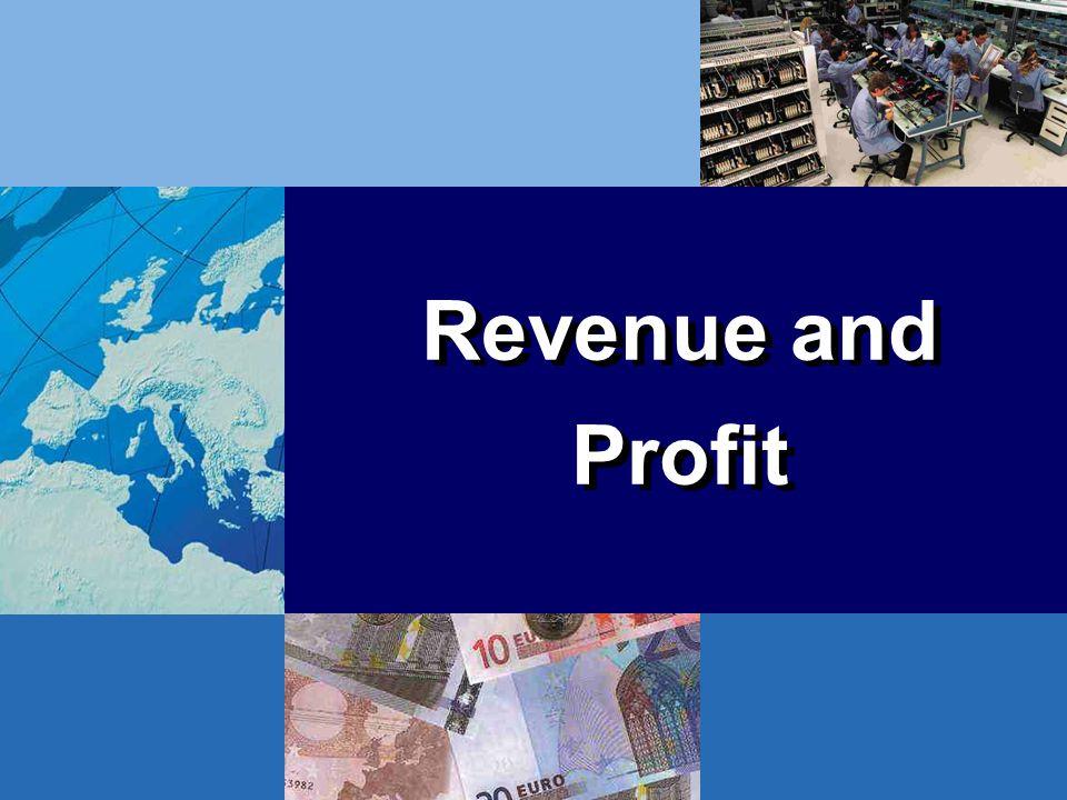Revenue and Profit Revenue and Profit
