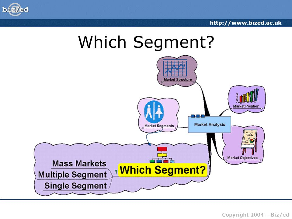 http://www.bized.ac.uk Copyright 2004 – Biz/ed Which Segment?
