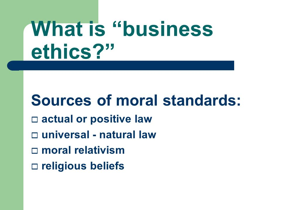 Business ethics: oxymoron Reasons for business ethics: ¨ Profitability ¨ Changes in consumer buying decisions ¨ Business strategy ¨ Personal reasons