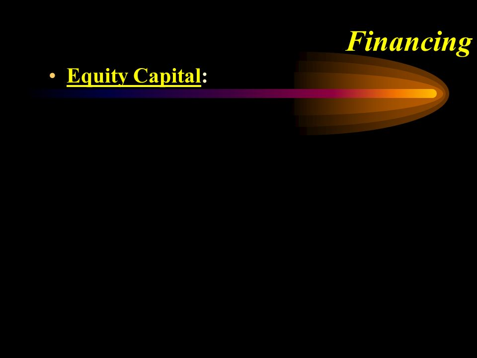Financing Equity Capital: