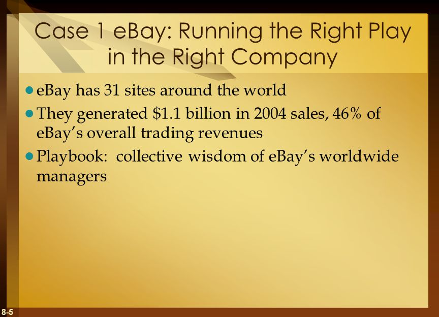 8-6 Case Study Questions 1.Why has eBay become such a successful and diverse online marketplace.