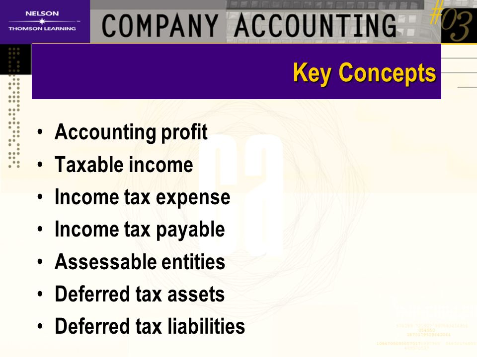 Assessable Entities Income tax levied on single companies Possible move to a group assessment basis – Losses offset – Consolidated accounts