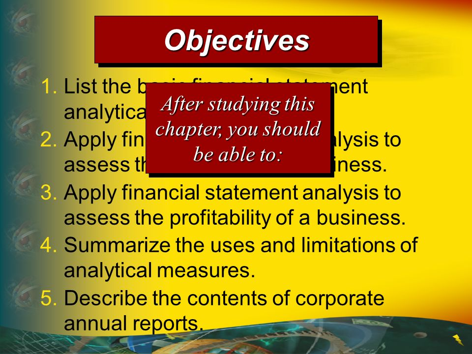1.List the basic financial statement analytical procedures.