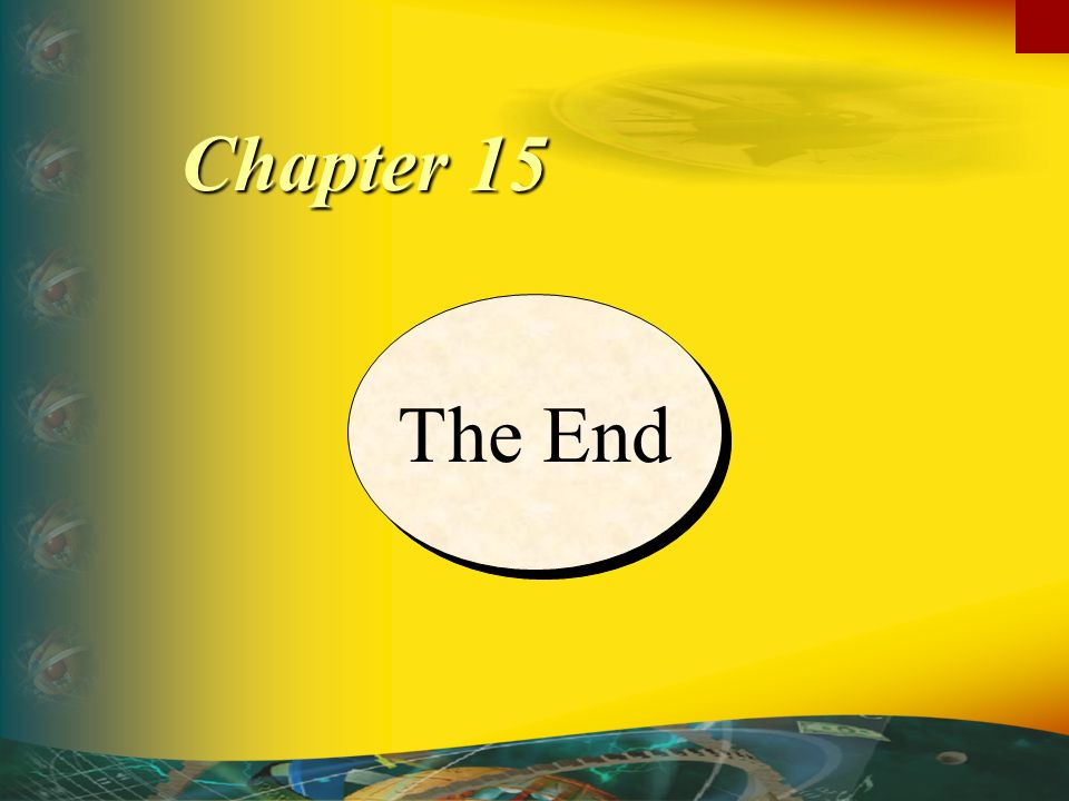 The End Chapter 15