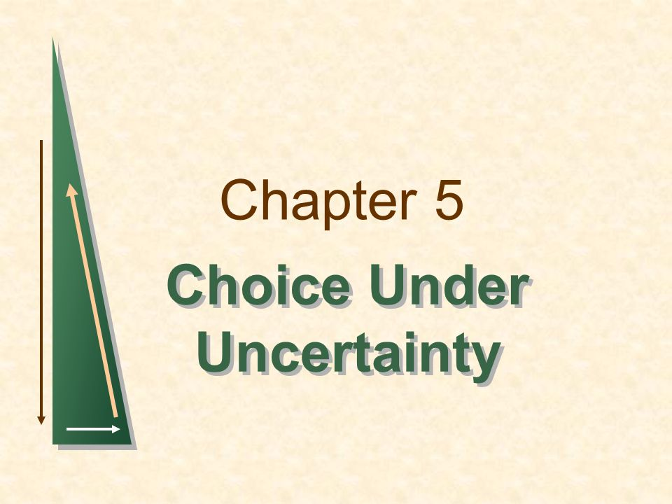 Chapter 5 Choice Under Uncertainty