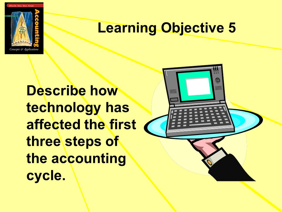 Learning Objective 5 Describe how technology has affected the first three steps of the accounting cycle.
