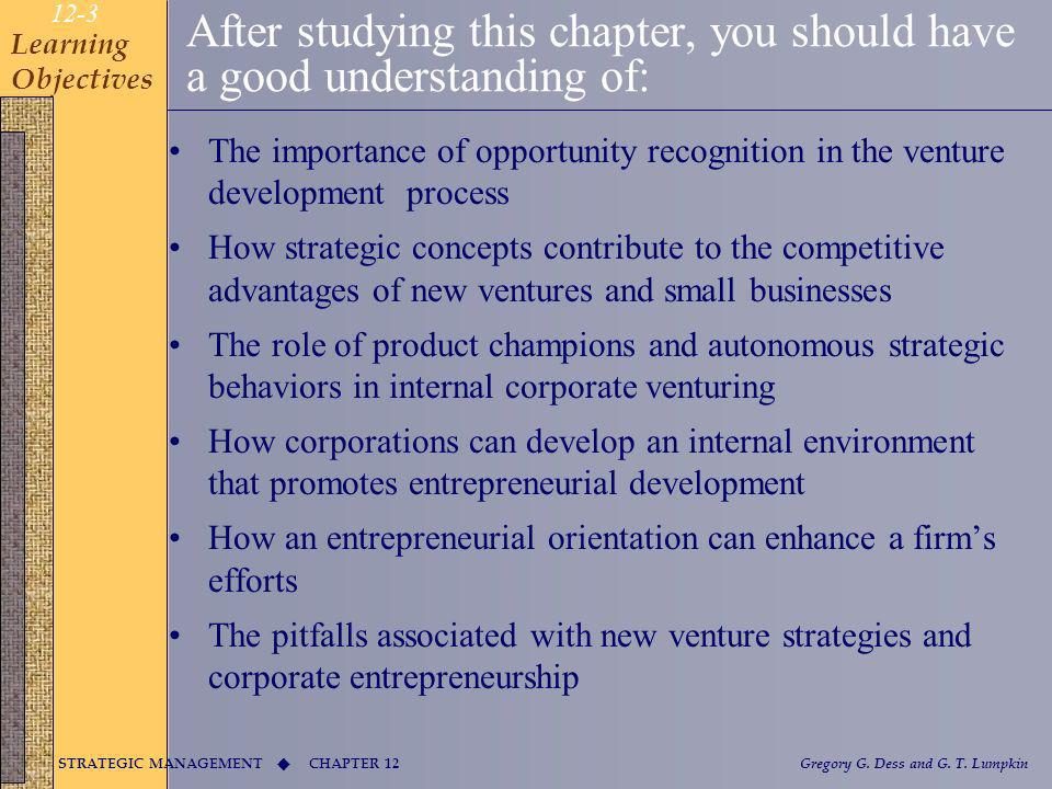 CHAPTER 12 STRATEGIC MANAGEMENT Gregory G.Dess and G.