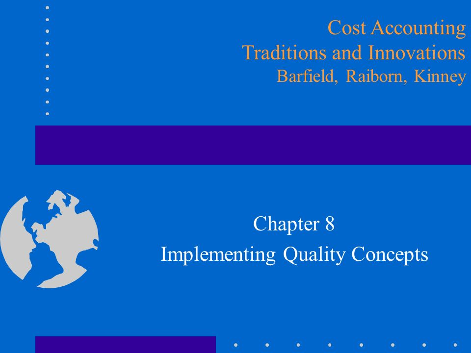 Measuring the Cost of Quality Determine where to spend dollars on quality prevention –Pareto Analysis Track the costs of quality –change chart of accounts or coding system Develop a quality reporting system