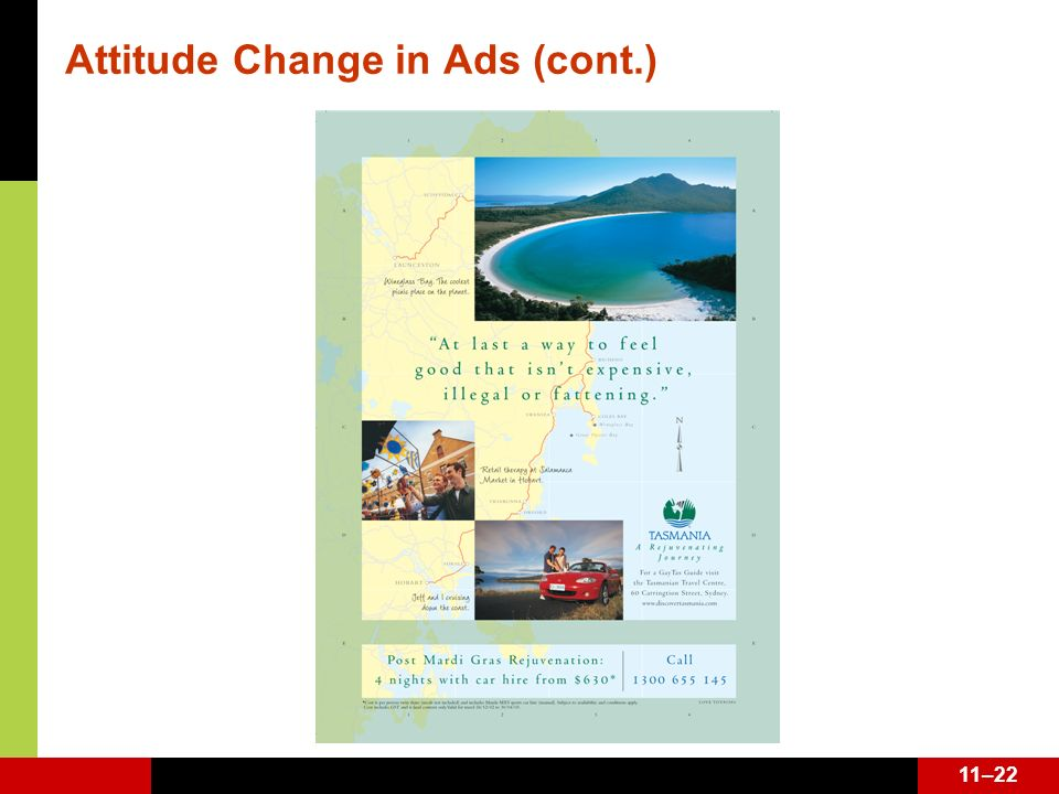11–22 Attitude Change in Ads (cont.)