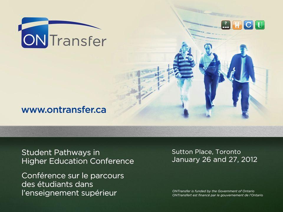 2 ONTransfer.ca: ONTransfer Website and Transfer Guide Presentation Shauna Love, ONTransfer Coordinator & Policy Analyst January 27, 2012