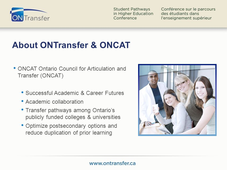 Options for College Students or Graduates If you are still in College looking to change institutions – links to each institutions transfer policy and a transfer advisor contact are provided.