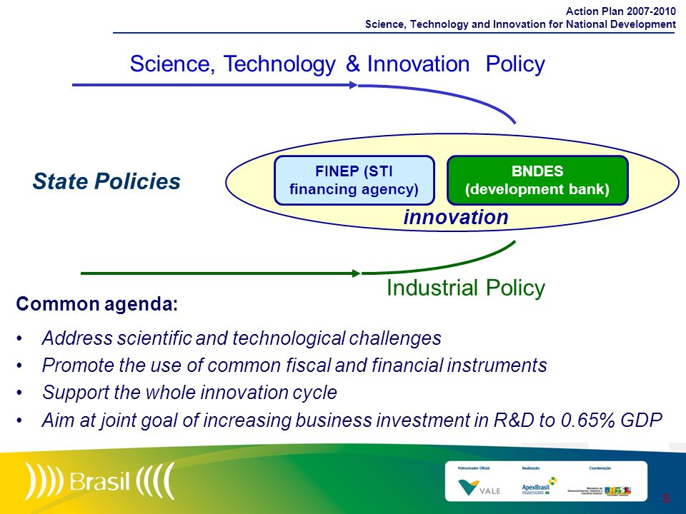 Action Plan 2007-2010 Science, Technology and Innovation for National Development Common agenda: Address scientific and technological challenges Promo